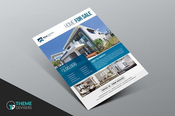 simple real estate flyer flyer templates creative market