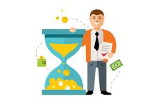 Time is money vector concept