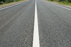 Asphalt road with marking
