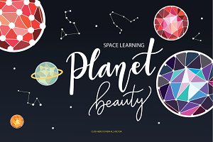 SPACE LEARNING PLANET BEAUTY