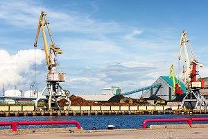 Port. Ventspils, Latvia