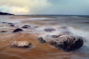 Baltic sea. Winter