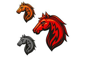Fire horse stallion