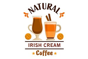 Irish cream coffee emblem