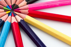 Color Pencils in group