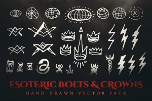 Esoteric Bolts & Crowns Vector Pack
