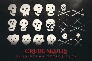 Esoteric Crude Skulls Vector Pack