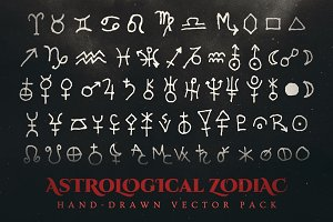 Esoteric Astrological Vector Pack