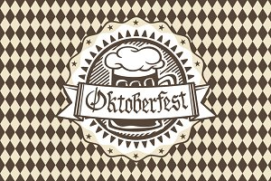 Vector logo for Oktoberfest i