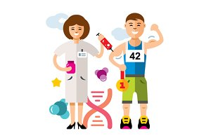 Doping and sport concept