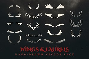 Esoteric Wings & Laurels Vector Pack