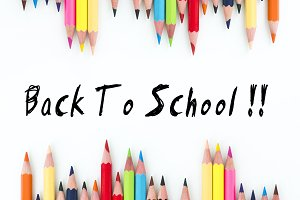 Back to school with color pencils