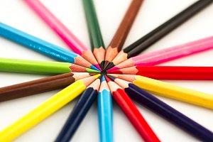 Color Pencils in Circle