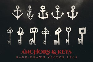 Esoteric Keys & Anchors Vector Pack