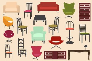 Flat furniture set
