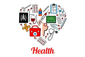 Medical symbols poster