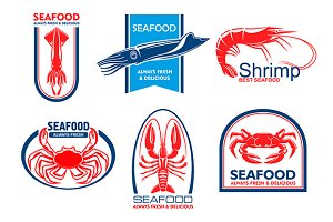 Seafood products emblems
