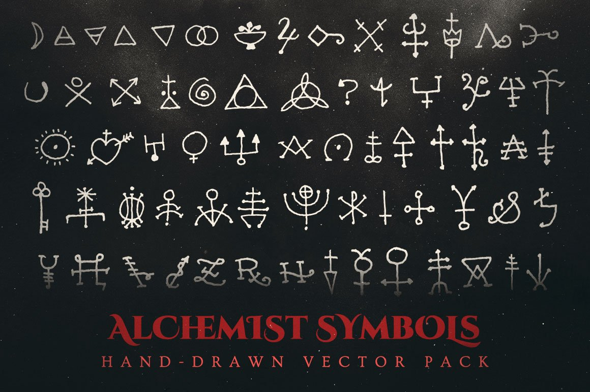 Esoteric alchemy symbols vector pack illustrations creative market biocorpaavc Choice Image