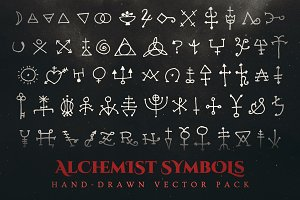 Esoteric Alchemy Symbols Vector Pack