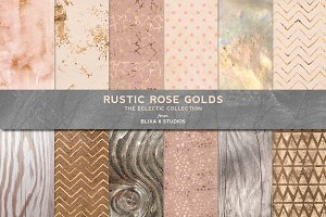 Rustic Rose Gold Textures & Patterns