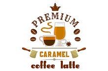 Coffee Latte Caramel cup