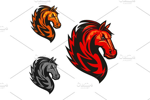 Furious and proud horse stallion - Graphics