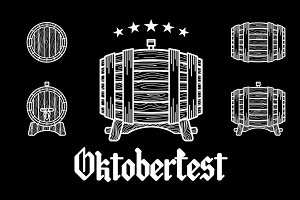 Set of Vintage Logo beer oktoberfest