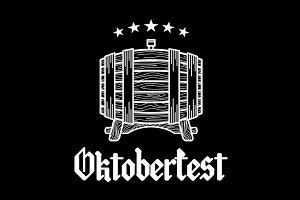 Vintage Logo barrel Beer oktoberfest