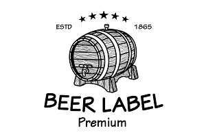 beer label logo vector vintage