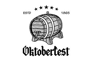 barrel Beer Oktoberfest Vector