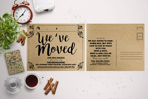 PaperKraft Moving Announcements Card