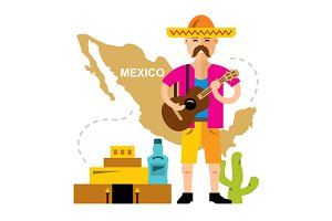 Mexico travel concept