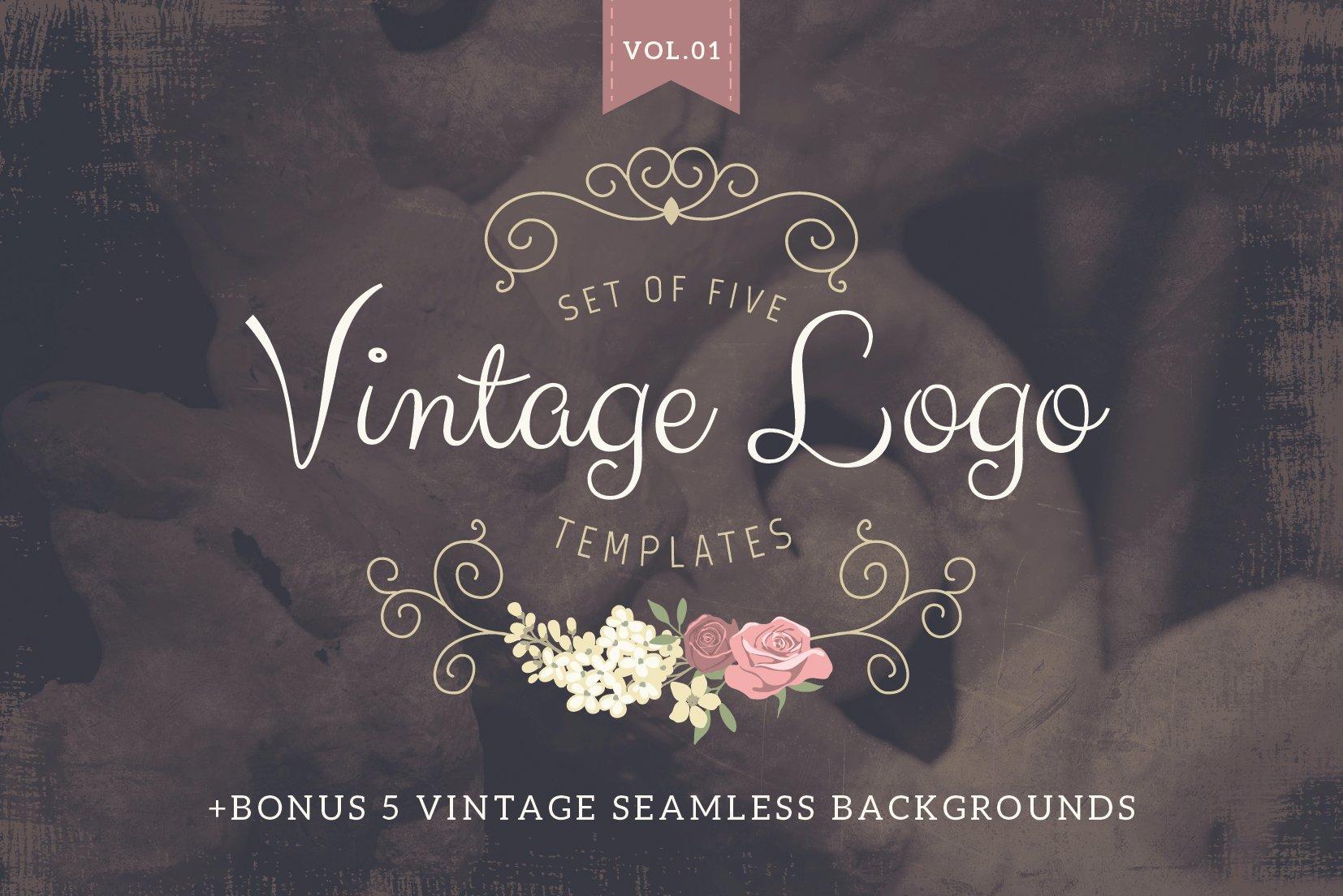 Vintage logo templates Vol 1 ~ Logo Templates ~ Creative Market
