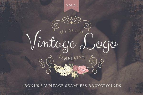 Vintage logo templates Vol 1