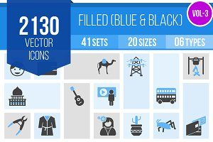 2130 Blue & Black Icons (V3)