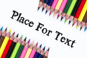 Sample Text with color pencils