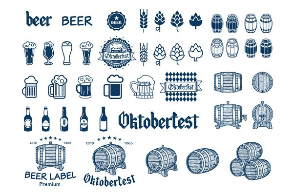 Beer Label vector icon drink logo