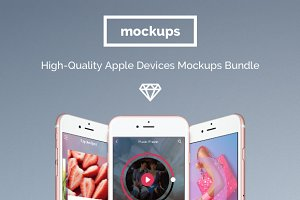 Mockup Bundle: 76 Apple devices