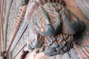Ancient Carved Door