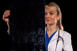 doctor woman in white labcoat