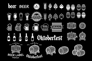 Vintage craft beer vector