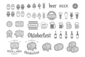 emblems, labels beer design elements