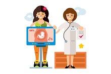 Pregnancy. Diagnostics. Sonography