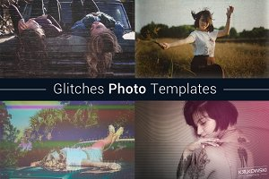 Glitches Photo Templates