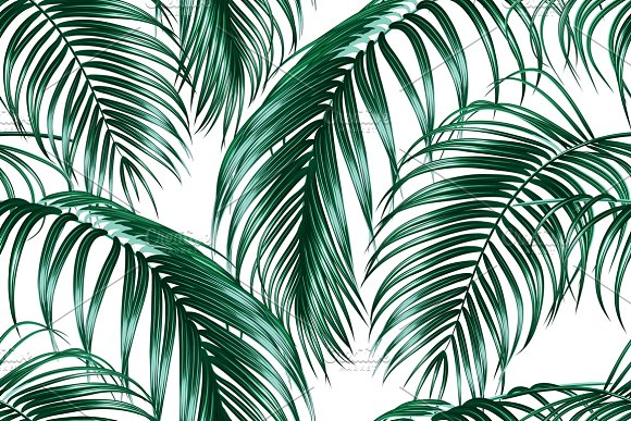 Tropical Palm Leaves Pattern Graphic Patterns Creative Market Amazing Tropical Leaves Pattern