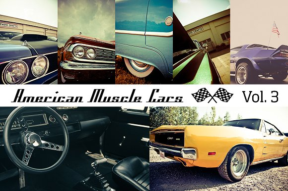 American Muscle Cars Vol. 3 (12x) - Objects