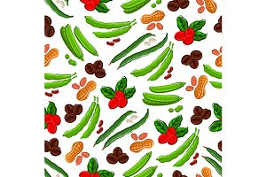 Beans, nuts and grains pattern