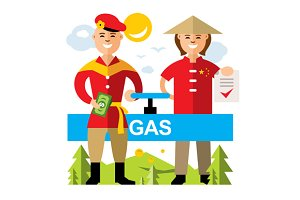 Gas pipeline Russia - China