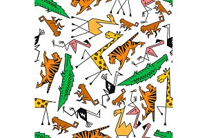 African and jungle safari pattern