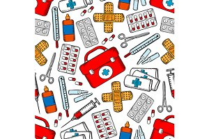 Medical seamless vector pattern